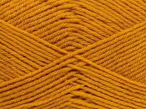 Cold Rinse. Short spin. Do not wring. Do not iron. Dry cleanable. Do not bleach. Fiber Content 50% Acrylic, 50% Polyamide, Brand Ice Yarns, Gold, fnt2-69547