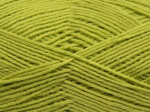 Cold Rinse. Short spin. Do not wring. Do not iron. Dry cleanable. Do not bleach. Fiber Content 50% Acrylic, 50% Polyamide, Pistachio Green, Brand Ice Yarns, fnt2-69549