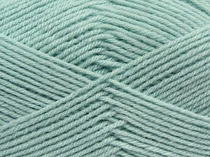 Cold Rinse. Short spin. Do not wring. Do not iron. Dry cleanable. Do not bleach. Fiber Content 50% Acrylic, 50% Polyamide, Water Green, Brand Ice Yarns, fnt2-69551