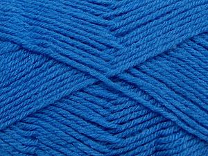 Cold Rinse. Short spin. Do not wring. Do not iron. Dry cleanable. Do not bleach. Fiber Content 50% Acrylic, 50% Polyamide, Brand Ice Yarns, Blue, fnt2-69554