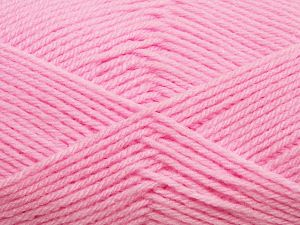 Cold Rinse. Short spin. Do not wring. Do not iron. Dry cleanable. Do not bleach. Fiber Content 50% Acrylic, 50% Polyamide, Brand Ice Yarns, Baby Pink, fnt2-69556