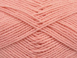 Cold Rinse. Short spin. Do not wring. Do not iron. Dry cleanable. Do not bleach. Fiber Content 50% Acrylic, 50% Polyamide, Powder Pink, Brand Ice Yarns, fnt2-69558