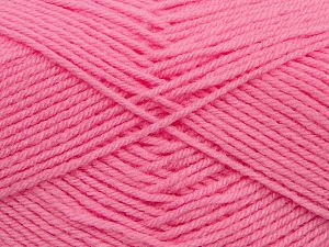 Cold Rinse. Short spin. Do not wring. Do not iron. Dry cleanable. Do not bleach. Fiber Content 50% Polyamide, 50% Acrylic, Pink, Brand Ice Yarns, fnt2-69559