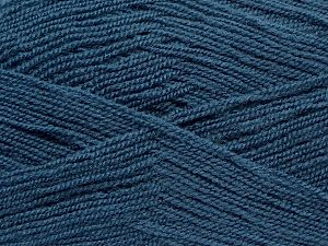Very thin yarn. It is spinned as two threads. So you will knit as two threads. Yardage information is for only one strand. Fiber Content 100% Acrylic, Jeans Blue, Brand Ice Yarns, fnt2-69564