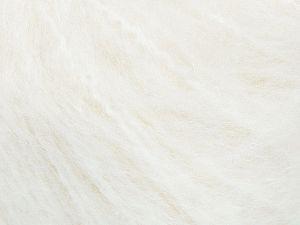 Fiber Content 45% Acrylic, 25% Wool, 20% Mohair, 10% Polyamide, White, Brand Ice Yarns, fnt2-69578