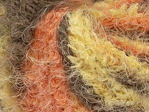Fiber Content 100% Polyamide, Yellow, Orange, Brand Ice Yarns, Cream, Camel, fnt2-69621