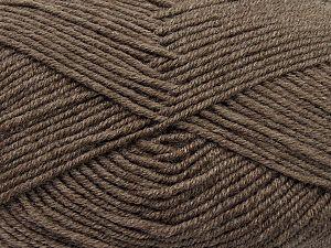 Contenido de fibra 60% Lana Merino, 40% Acrílico, Brand Ice Yarns, Dark Camel, fnt2-69703