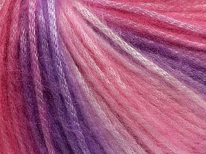 Fiber Content 56% Polyester, 44% Acrylic, Pink Shades, Lilac Shades, Brand Ice Yarns, fnt2-69754