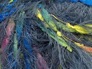 Fiber Content 80% Nylon, 20% Polyester, Yellow, Pink, Light Grey, Brand Ice Yarns, Blue, fnt2-69756