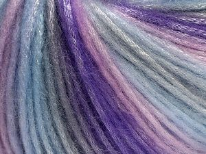 Fiber Content 56% Polyester, 44% Acrylic, Light Pink, Light Lilac, Light Grey, Light Blue, Brand Ice Yarns, fnt2-69784