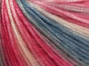 Fiber Content 56% Polyester, 44% Acrylic, Teal, Pink Shades, Brand Ice Yarns, fnt2-69785