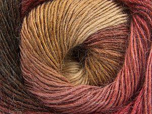 Fiber Content 60% Premium Acrylic, 20% Wool, 20% Alpaca, Brand Ice Yarns, Burgundy, Brown Shades, fnt2-69830