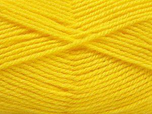 Fiber Content 50% Acrylic, 50% Wool, Yellow, Brand Ice Yarns, fnt2-69832