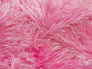 Fiber Content 75% Polyester, 25% Iridescent Lurex, Pink, Brand Ice Yarns, fnt2-69835
