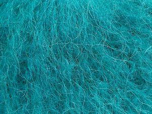 Fiber Content 41% Kid Mohair, 41% Alpaca Superfine, 2% Elastan, 16% Nylon, Brand Ice Yarns, Emerald Green, fnt2-69877