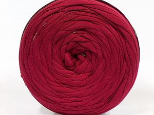 Make handbags,rugs,basket and cushion covers with this genius new-fashion yarn!<p>Since the yarn is made by upcycling fabrics, and because of the nature of the yarn; take the following notes into consideration. </p><ul><li>Fiber content information may vary. Information given about fiber content is approximate. </li><li>The yardage and weight information of the yarn is approximate. </li></ul> Fiber Content 95% Cotton, 5% Elastan, Brand Ice Yarns, Dark Red, fnt2-69911