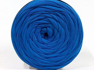 Make handbags,rugs,basket and cushion covers with this genius new-fashion yarn!<p>Since the yarn is made by upcycling fabrics, and because of the nature of the yarn; take the following notes into consideration. </p><ul><li>Fiber content information may vary. Information given about fiber content is approximate. </li><li>The yardage and weight information of the yarn is approximate. </li></ul> Fiber Content 95% Cotton, 5% Elastan, Saxe Blue, Brand Ice Yarns, fnt2-69926