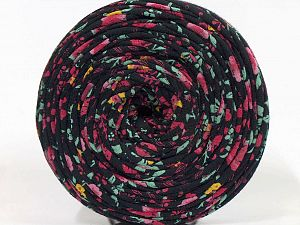 Make handbags,rugs,basket and cushion covers with this genius new-fashion yarn!<p>Since the yarn is made by upcycling fabrics, and because of the nature of the yarn; take the following notes into consideration. </p><ul><li>Fiber content information may vary. Information given about fiber content is approximate. </li><li>The yardage and weight information of the yarn is approximate. </li></ul> Fiber Content 95% Cotton, 5% Elastan, Brand Ice Yarns, Black, fnt2-69937