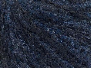 Fiber Content 25% Wool, 25% Polyamide, 25% Alpaca, 25% Acrylic, navy shades, Brand Ice Yarns, fnt2-69992