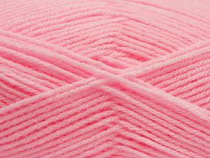 Fiber Content 100% Acrylic, Brand Ice Yarns, Baby Pink, Yarn Thickness 3 Light DK, Light, Worsted, fnt2-70034