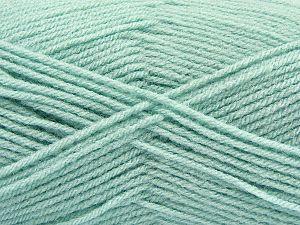 Fiber Content 100% Acrylic, Mint Green, Brand Ice Yarns, Yarn Thickness 3 Light DK, Light, Worsted, fnt2-70051