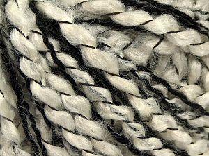 Fiber Content 90% Acrylic, 10% Polyester, White, Brand Ice Yarns, Black, fnt2-70061