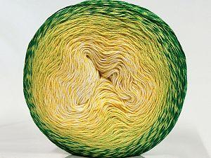Fiber Content 55% Organic Cotton, 45% Antipilling Acrylic, Yellow, Brand Ice Yarns, Green Shades, fnt2-70154