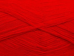 Very thin yarn. It is spinned as two threads. So you will knit as two threads. Yardage information is for only one strand. Fiber Content 100% Acrylic, Red, Brand Ice Yarns, fnt2-70237