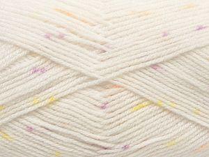 Fiber Content 100% Acrylic, Yellow, White, Orange, Lilac, Brand Ice Yarns, fnt2-70238