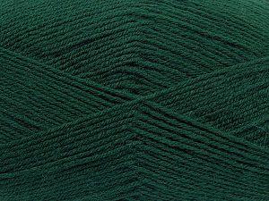 Contenido de fibra 60% Lana Merino, 40% Acrílico, Brand Ice Yarns, Dark Green, fnt2-70239