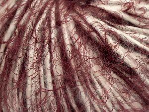 Fiber Content 50% Polyester, 20% Polyamide, 15% Extrafine Merino Wool, 15% Cotton, Brand Ice Yarns, Ecru, Burgundy, fnt2-70251