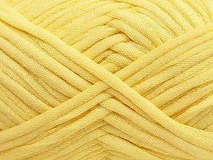 Fiber Content 67% Cotton, 33% Polyamide, Light Yellow, Brand Ice Yarns, fnt2-70254