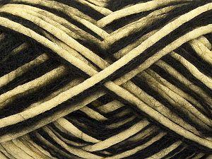 Fiber Content 33% Cotton, 23% Acrylic, 22% Polyamide, 21% Wool, 1% Elastan, Light Yellow, Brand Ice Yarns, Black, fnt2-70255