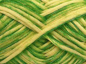 Fiber Content 33% Cotton, 23% Acrylic, 22% Polyamide, 21% Wool, 1% Elastan, Light Yellow, Brand Ice Yarns, Green, fnt2-70259