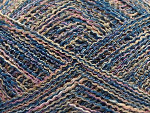 Fiber Content 45% Cotton, 45% Acrylic, 10% Polyester, Light Pink, Light Camel, Brand Ice Yarns, Blue, fnt2-70276