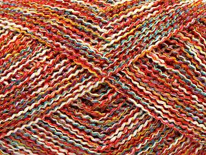 Fiber Content 45% Acrylic, 45% Cotton, 10% Polyester, Turquoise, Red, Brand Ice Yarns, Gold, Cream, fnt2-70278