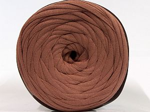 Make handbags,rugs,basket and cushion covers with this genius new-fashion yarn!<p>Since the yarn is made by upcycling fabrics, and because of the nature of the yarn; take the following notes into consideration. </p><ul><li>Fiber content information may vary. Information given about fiber content is approximate. </li><li>The yardage and weight information of the yarn is approximate. </li></ul> Fiber Content 95% Cotton, 5% Elastan, Brand Ice Yarns, Brown, fnt2-70333