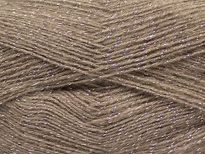 Fiber Content 75% Acrylic, 5% Lurex, 10% Wool, 10% Mohair, Brand Ice Yarns, Camel, fnt2-70388