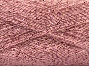Fiber Content 75% Acrylic, 5% Lurex, 10% Wool, 10% Mohair, Pink, Brand Ice Yarns, fnt2-70401