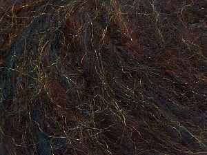 Fiber Content 5% Nylon, 40% Acrylic, 25% Wool, 20% Mohair, 10% Polyamide, Turquoise, Brand Ice Yarns, Gold, Brown, Black, fnt2-70416