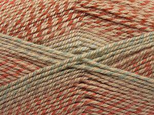 Fiber Content 50% Premium Acrylic, 50% Wool, Turquoise, Salmon, Light Blue, Brand Ice Yarns, Camel, fnt2-70419