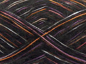 Fiber Content 73% Acrylic, 16% Wool, 10% Polyamide, 1% Elastan, White, Pink, Orange, Lilac, Brand Ice Yarns, Black, fnt2-70443