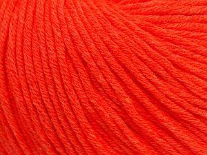 Fiber Content 50% Cotton, 50% Acrylic, Neon Orange, Brand Ice Yarns, fnt2-70453