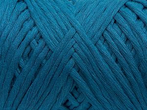Fiber Content 100% Cotton, Brand Ice Yarns, Blue, Yarn Thickness 5 Bulky Chunky, Craft, Rug, fnt2-70529