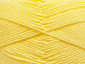 Fiber Content 100% Antibacterial Acrylic, Light Yellow, Brand Ice Yarns, Yarn Thickness 3 Light DK, Light, Worsted, fnt2-70534