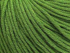 Fiber Content 50% Cotton, 50% Acrylic, Brand Ice Yarns, Green, fnt2-70652