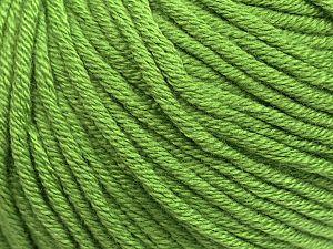 Fiber Content 50% Cotton, 50% Acrylic, Light Green, Brand Ice Yarns, fnt2-70653