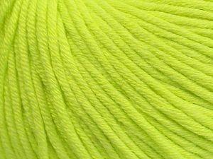 Fiber Content 50% Cotton, 50% Acrylic, Neon Green, Brand Ice Yarns, fnt2-70655