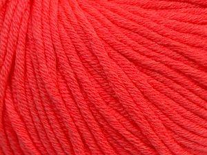 Fiber Content 50% Cotton, 50% Acrylic, Neon Orange, Brand Ice Yarns, fnt2-70656