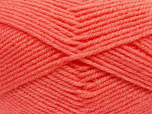 Worsted Fiber Content 100% Acrylic, Salmon, Brand Ice Yarns, fnt2-70662